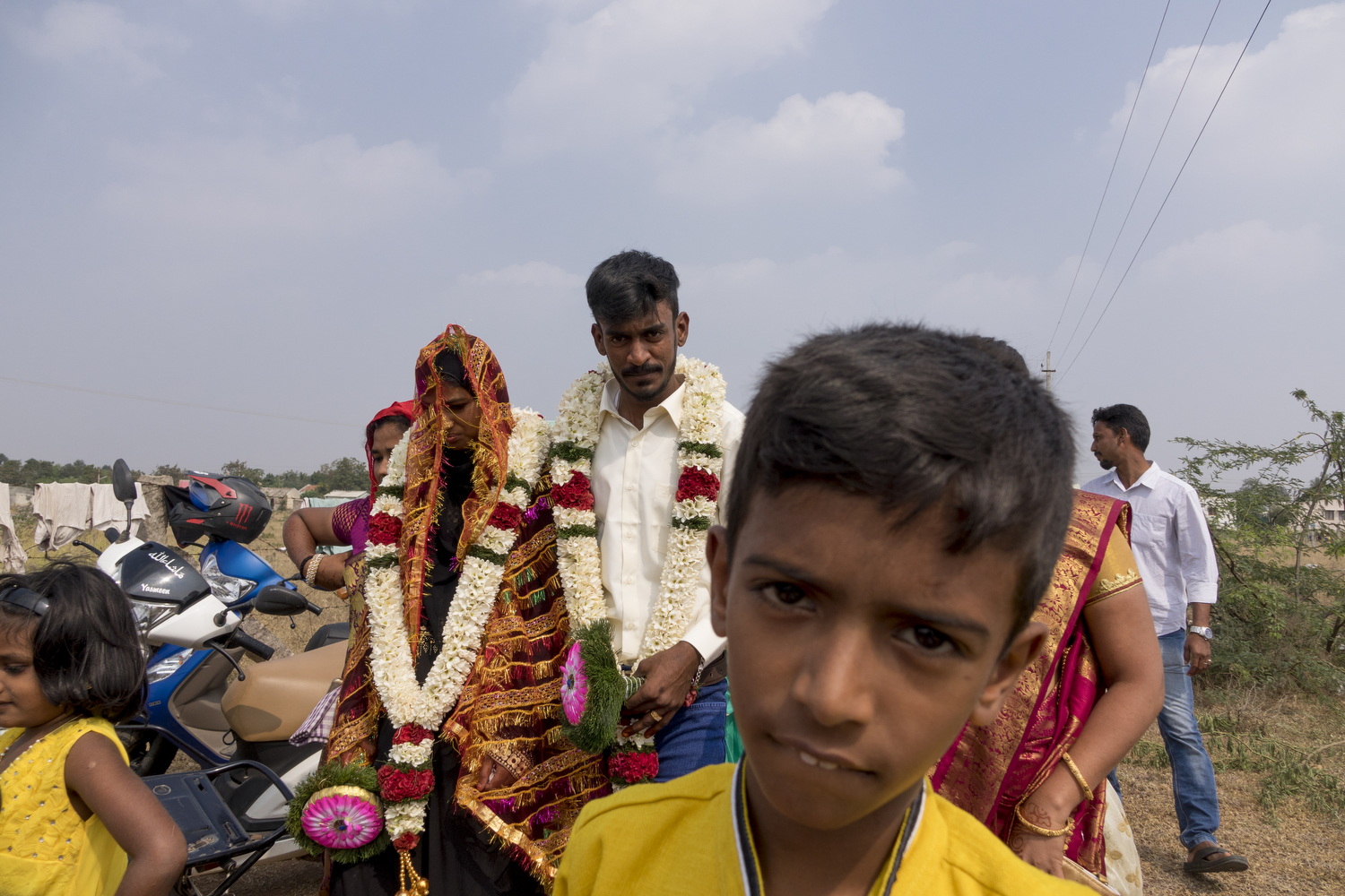 The man and the girl were married in January in Anna Nagar. It was a Muslim wedding. After marrying in the mosque, the bride and groom go back to their homes to celebrate with their relatives and a feast.  Harish Kumar. R .