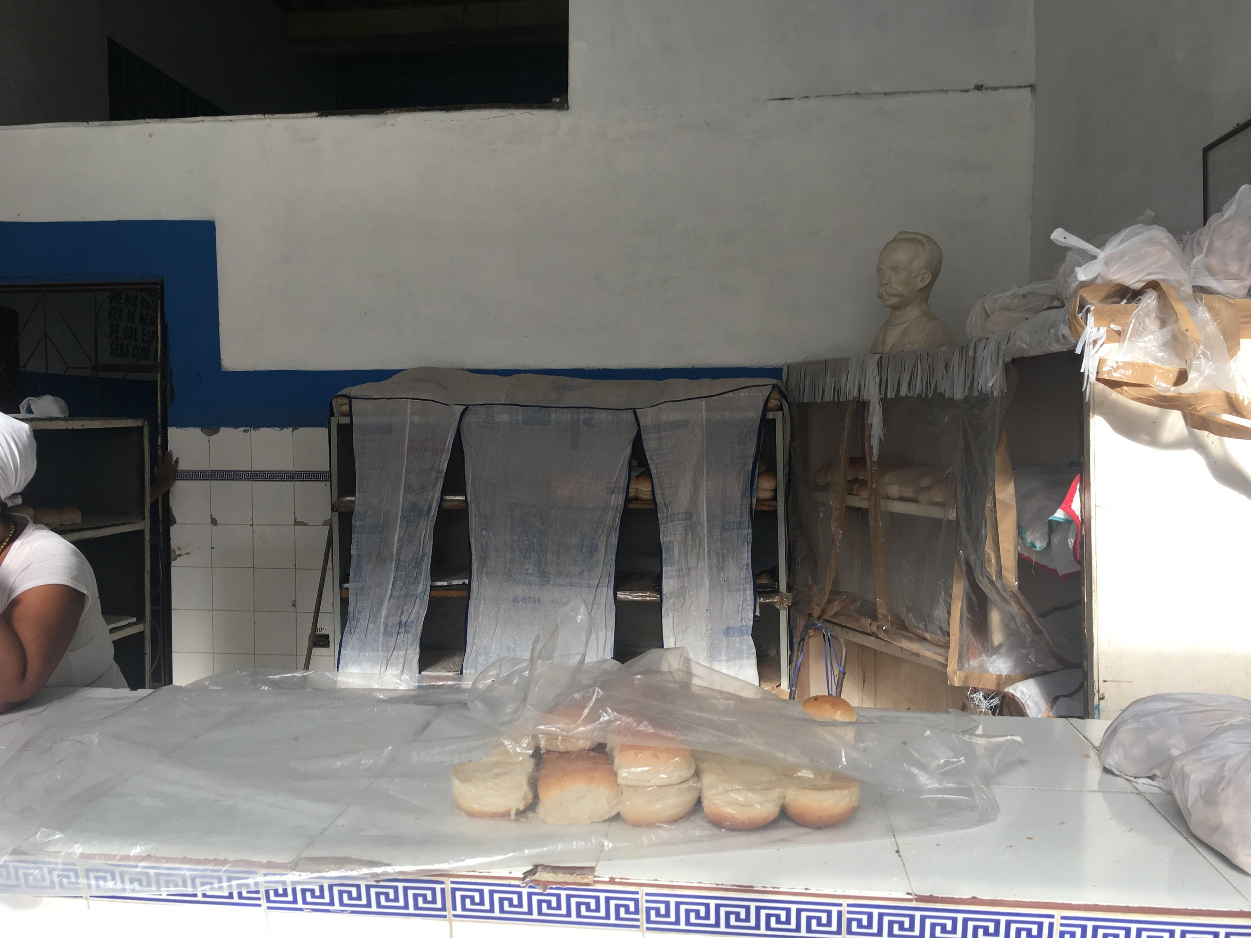 State-owned bakery in havana