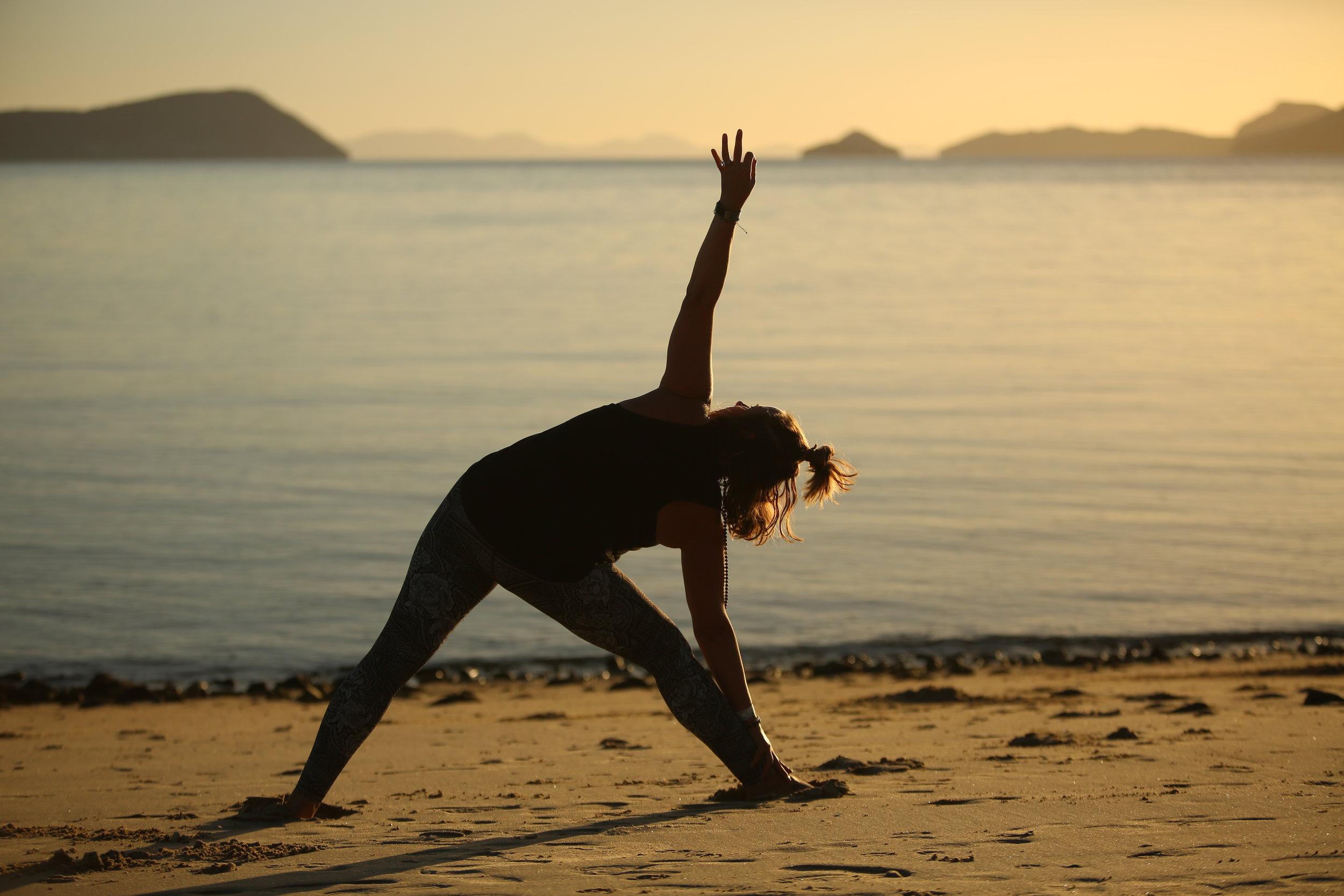 Sunrise yoga on the sea of cortez in baja photo: matt felperin