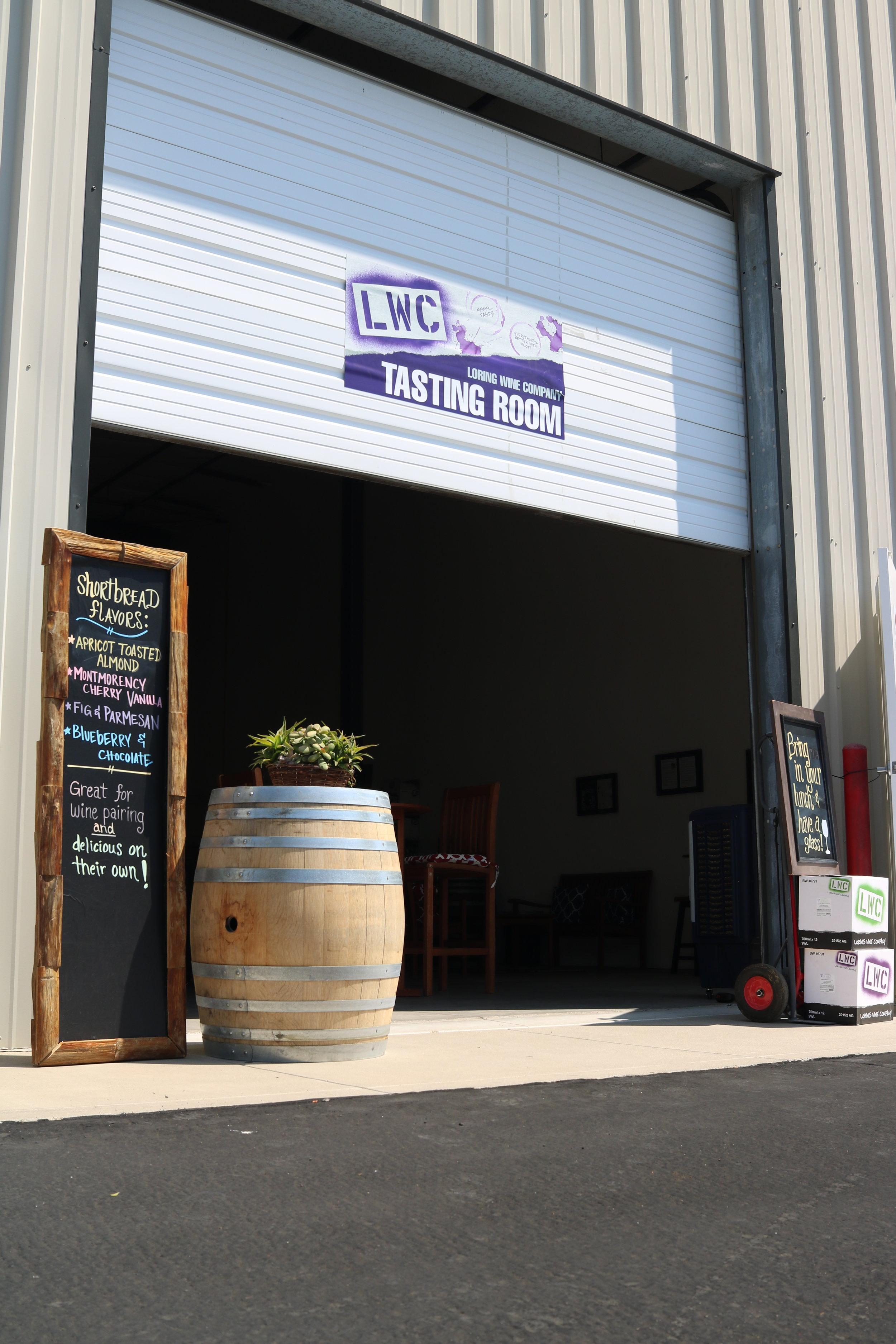 Loring Wine Company tasting room in Buellton, CA.