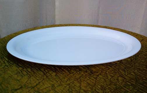 "Oval Food Platter ( 21"" x 15"")  $10.00"