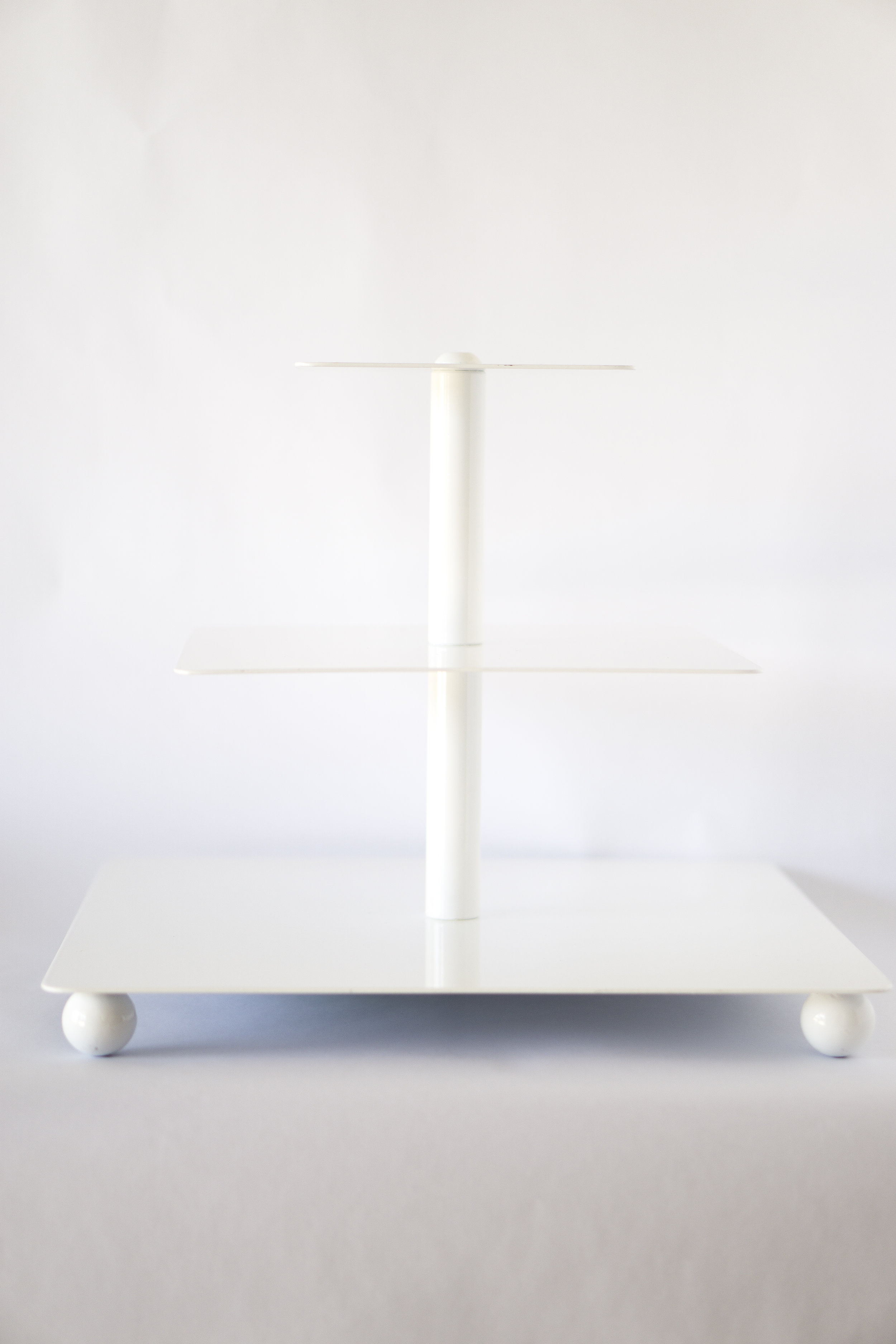 "Square Tiered Tray  (6"", 10"", 14"")  $18.00"