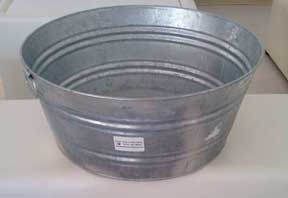 "Round Drink Tub  26"" long  $12.50"