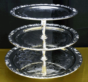 "Gourmet Tiered Server Tray  (13"", 15"", 17"")  $25.00"
