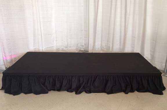 1ft high stage black skirting  $1.00 per foot  $2.00 per foot for any other color
