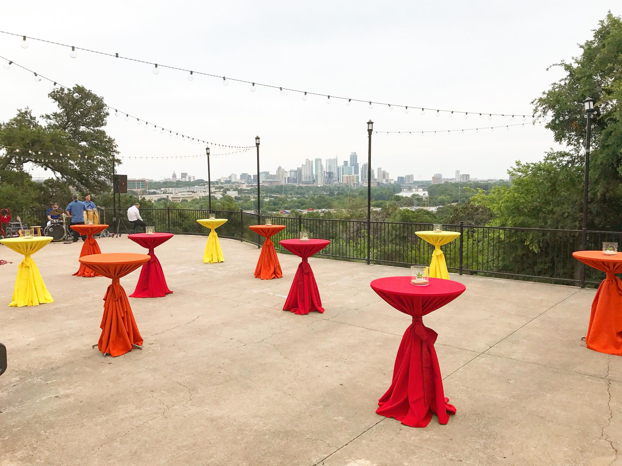 Cocktail Tables at Zilker Park Clubhouse