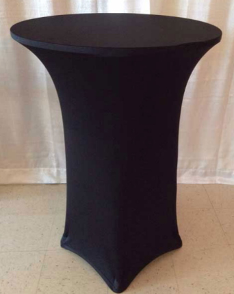 Cocktail Table with Spandex Linen