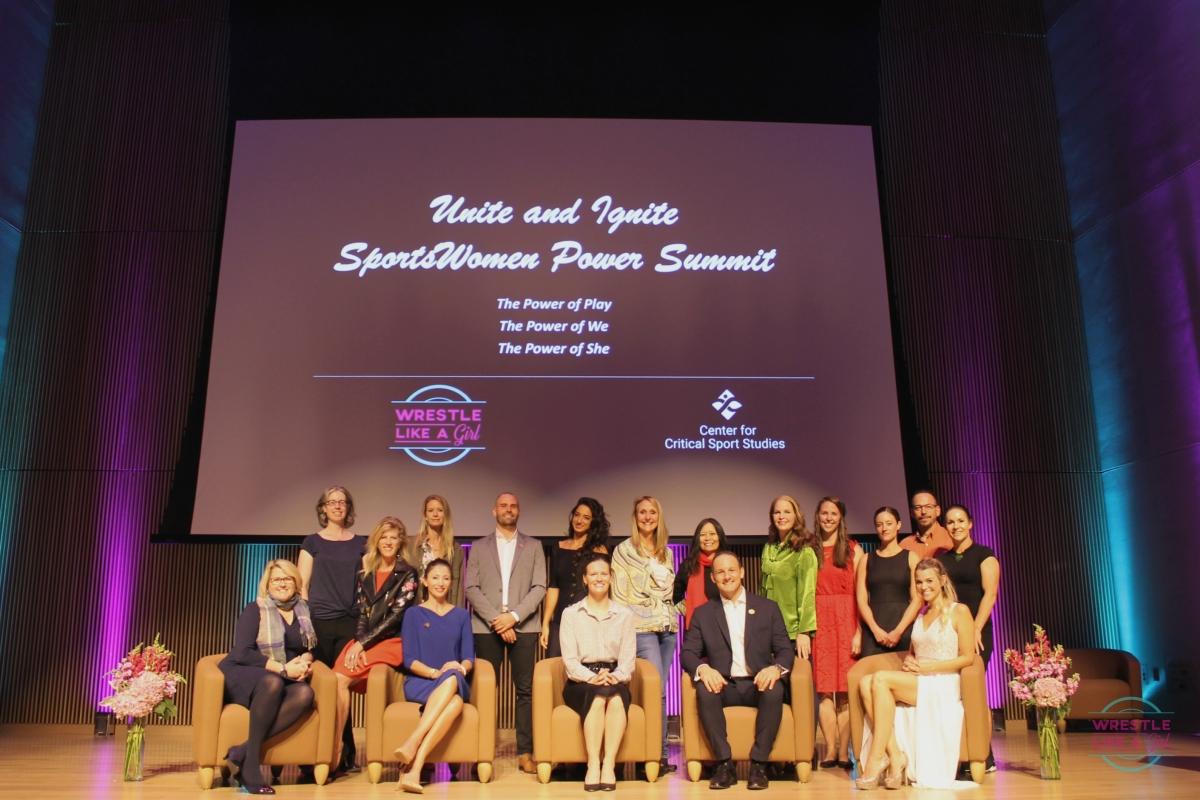 Speaker Group on Stage_2018 Unite and Ignite Sportswomen Power Summit.jpg