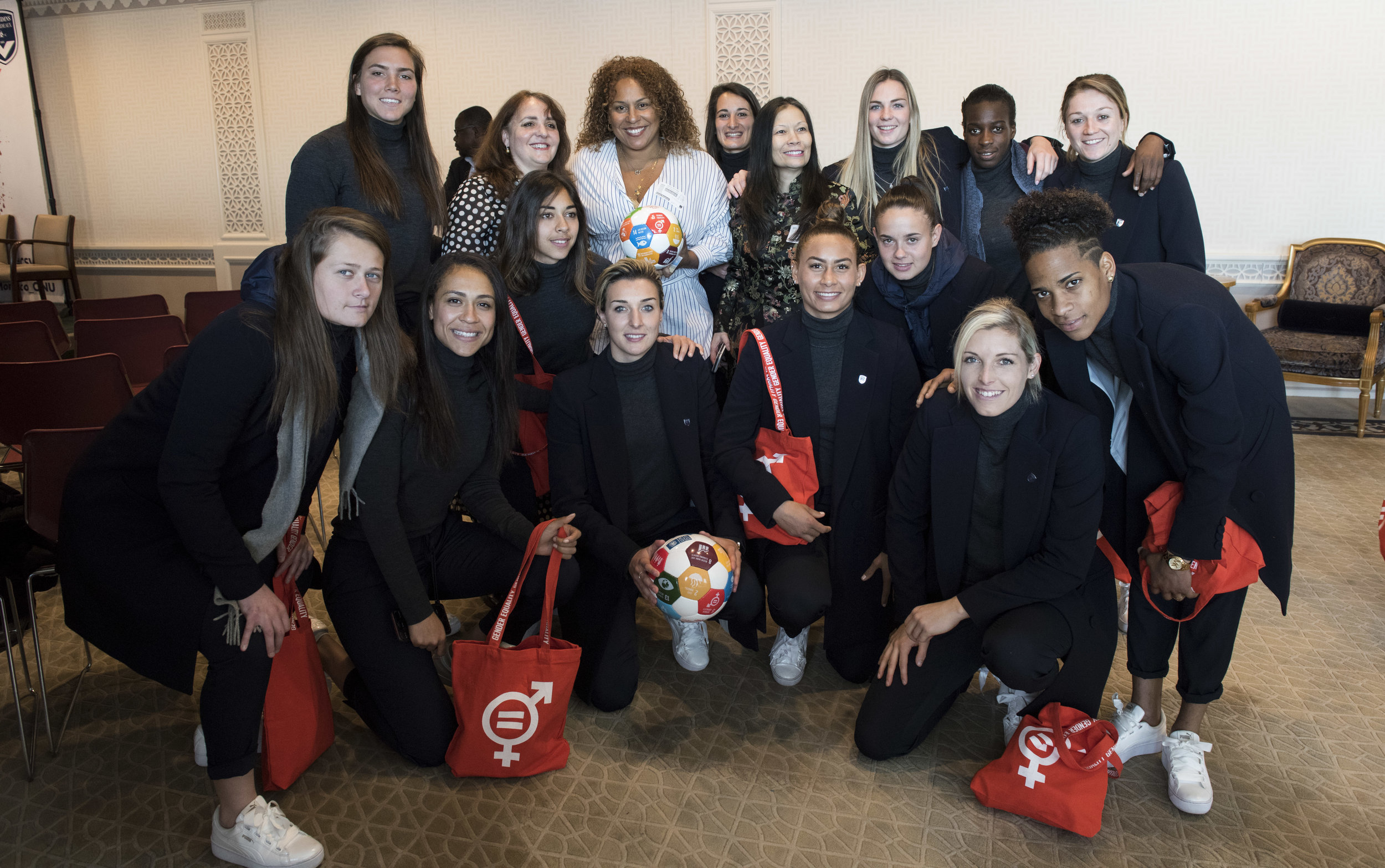 Ambassador Picco of Monaco and Bordeaux French Footballers