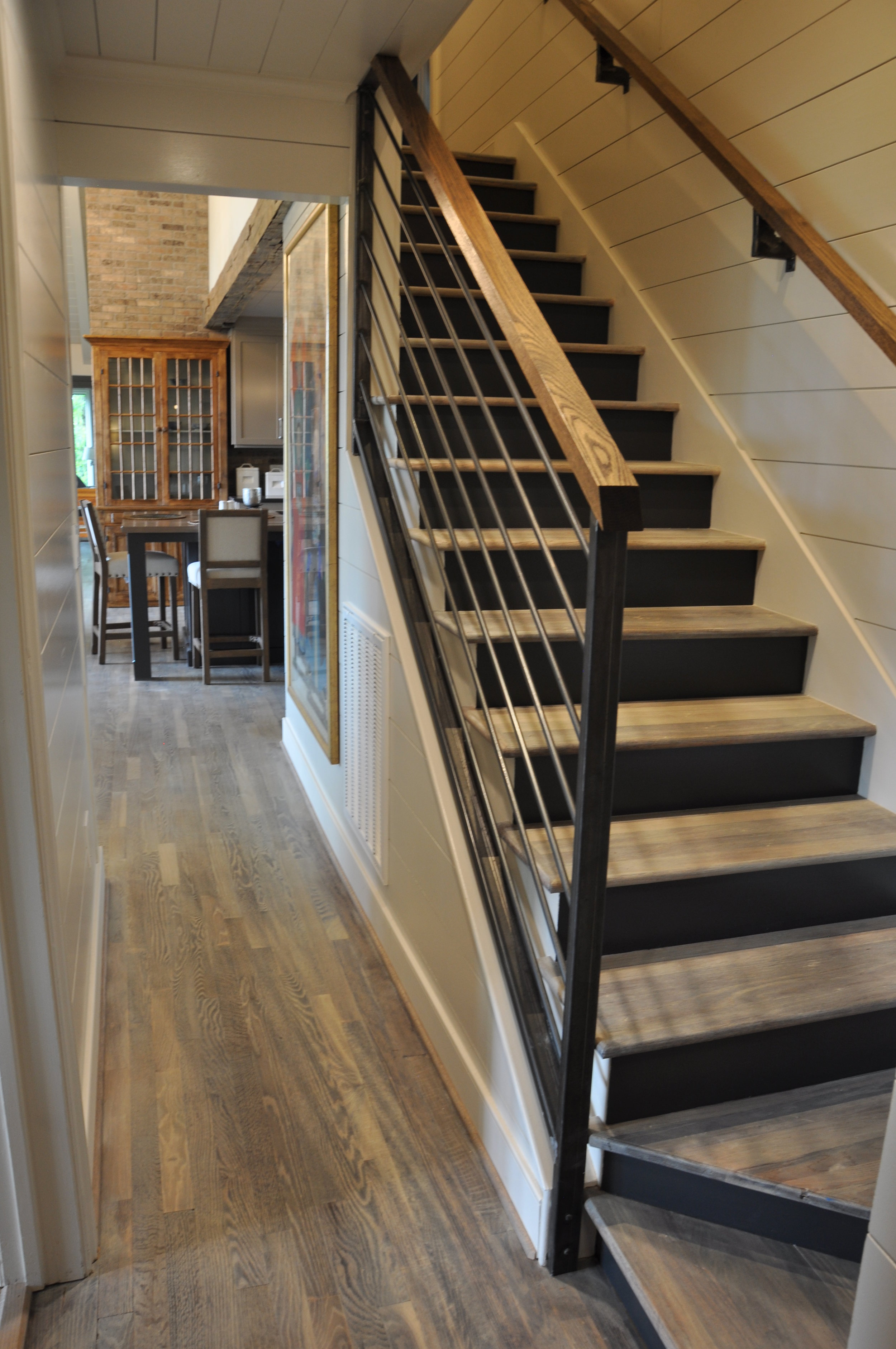 stairway was opened up and modernized.