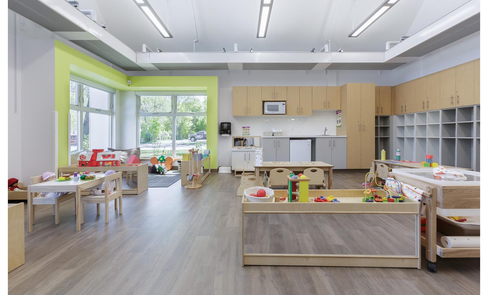 Great West Life Daycare, interior photo of infant room / Photo:  Lindsay Reid
