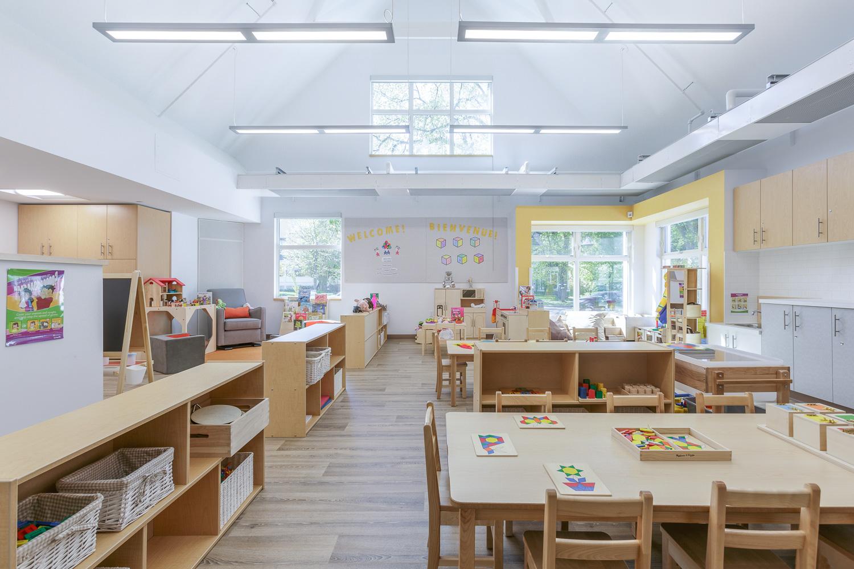 Great West Life Daycare, interior photo of pre-school room / Photo:  Lindsay Reid