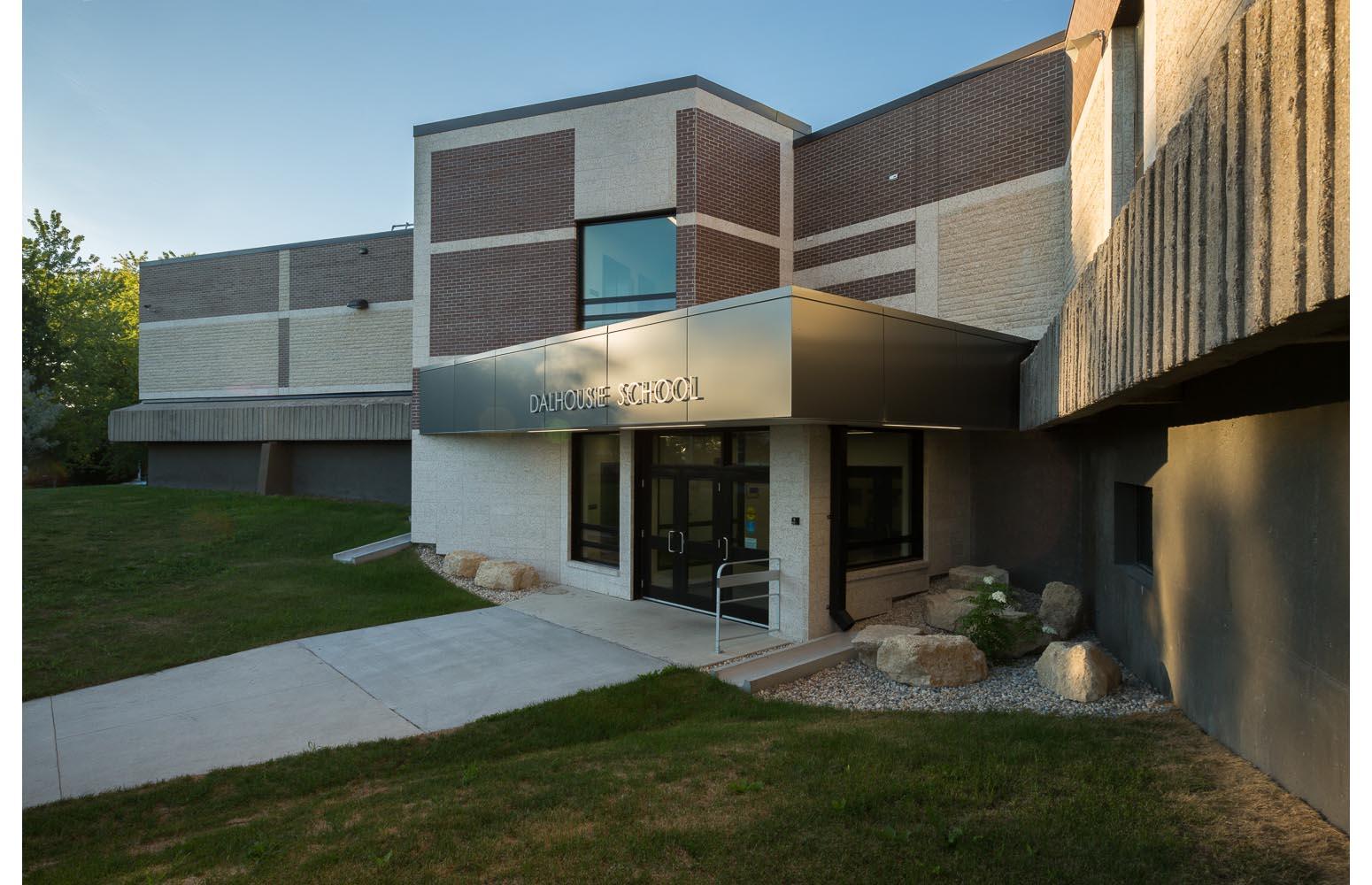 Dalhousie School Elevator Addition, exterior photo of the building / Photo:  Lindsay Reid