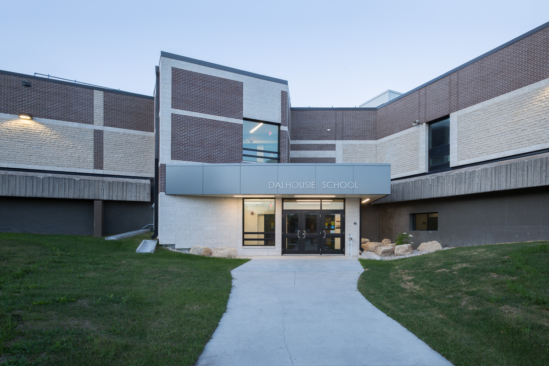 Dalhousie School Elevator Addition, exterior of building / Photo:  Lindsay Reid