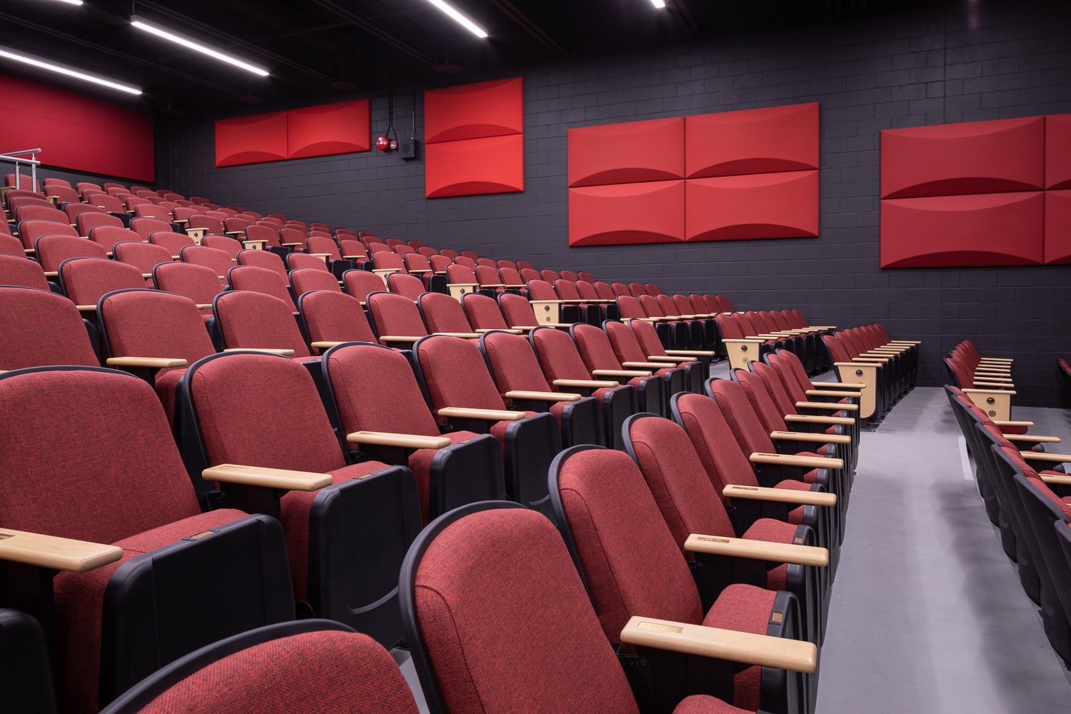 Seven Oaks Performing Arts Centre, interior photo of the theatre seating / Photo:  Lindsay Reid