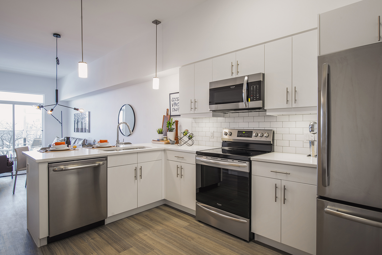 24Seven Condominiums, interior photo of suite kitchen