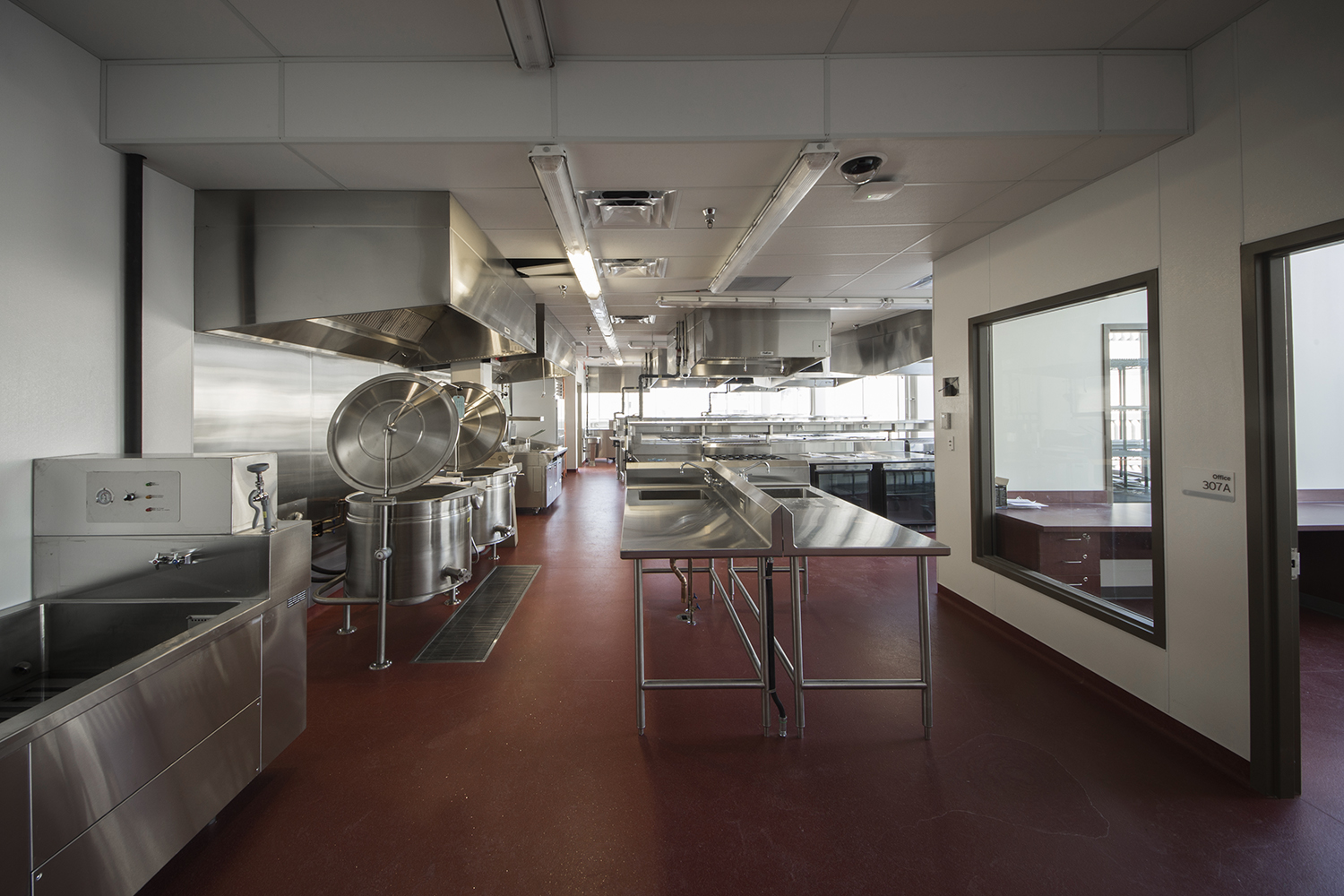 Red River College Culinary Arts & Student Housing, interior photo of classroom / Photo: Bryan Scott