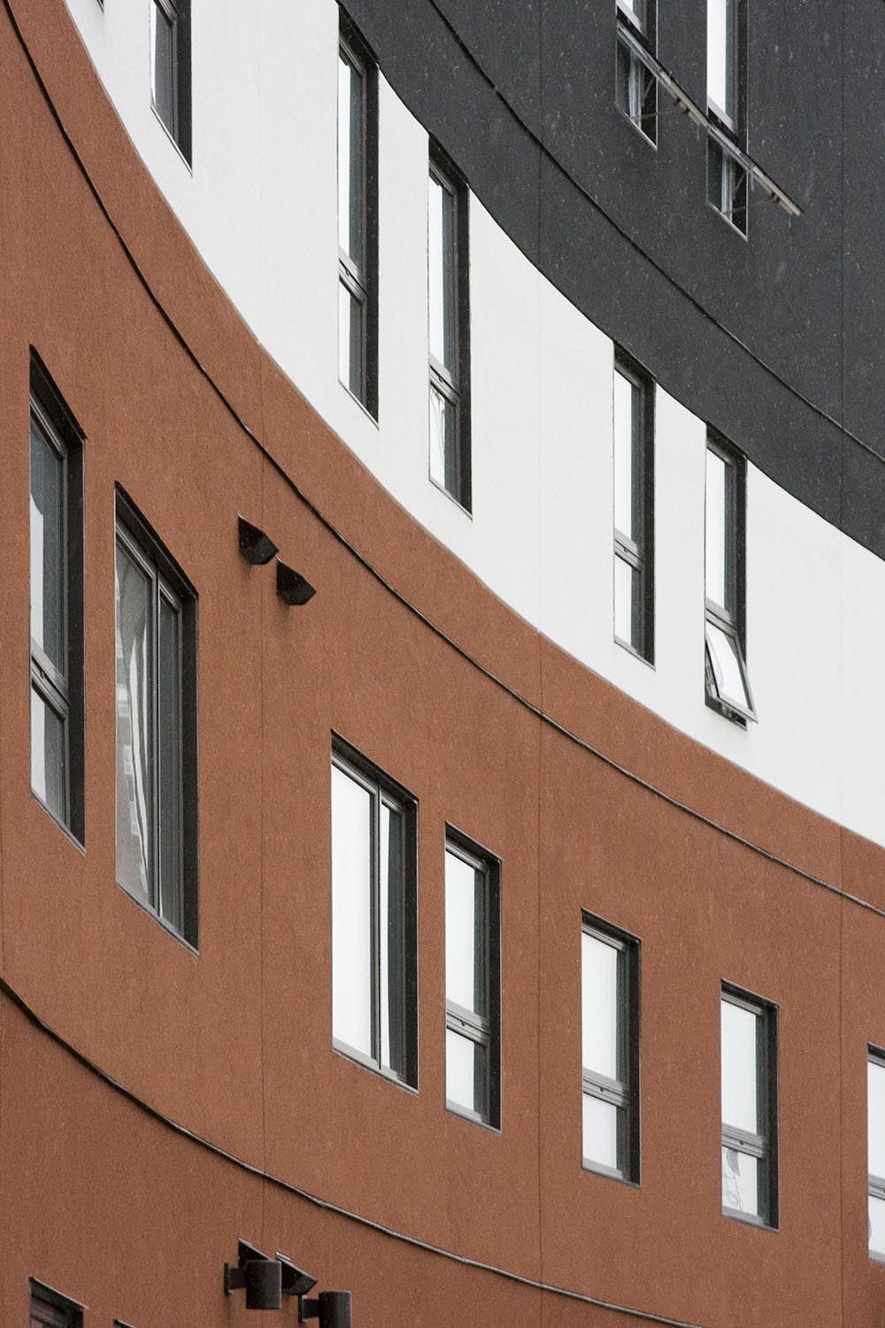 U of W Housing (McFeetor's Hall), exterior photo of building detail / Photo: Tracy A Wieler