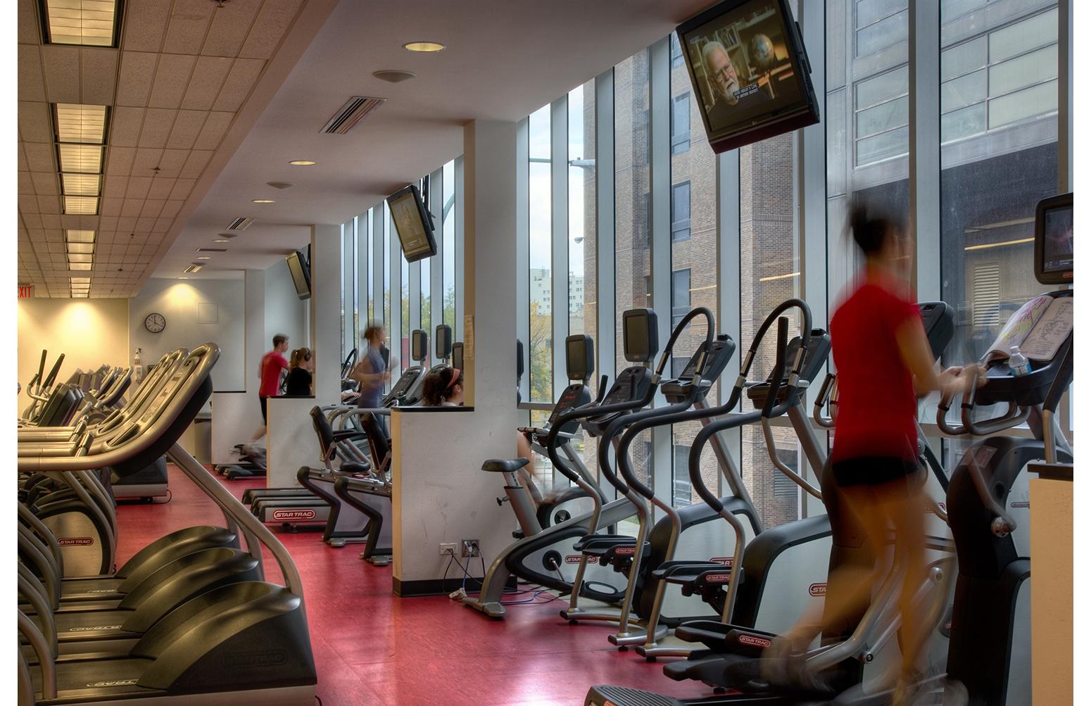 Duckworth Centre, interior photo of workout area / Photo: Bryan Scott