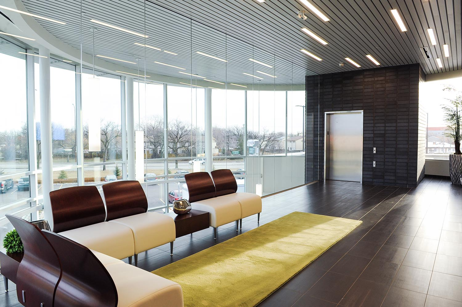 Entegra Credit Union, interior photo of reception / Photo: Joel Ross