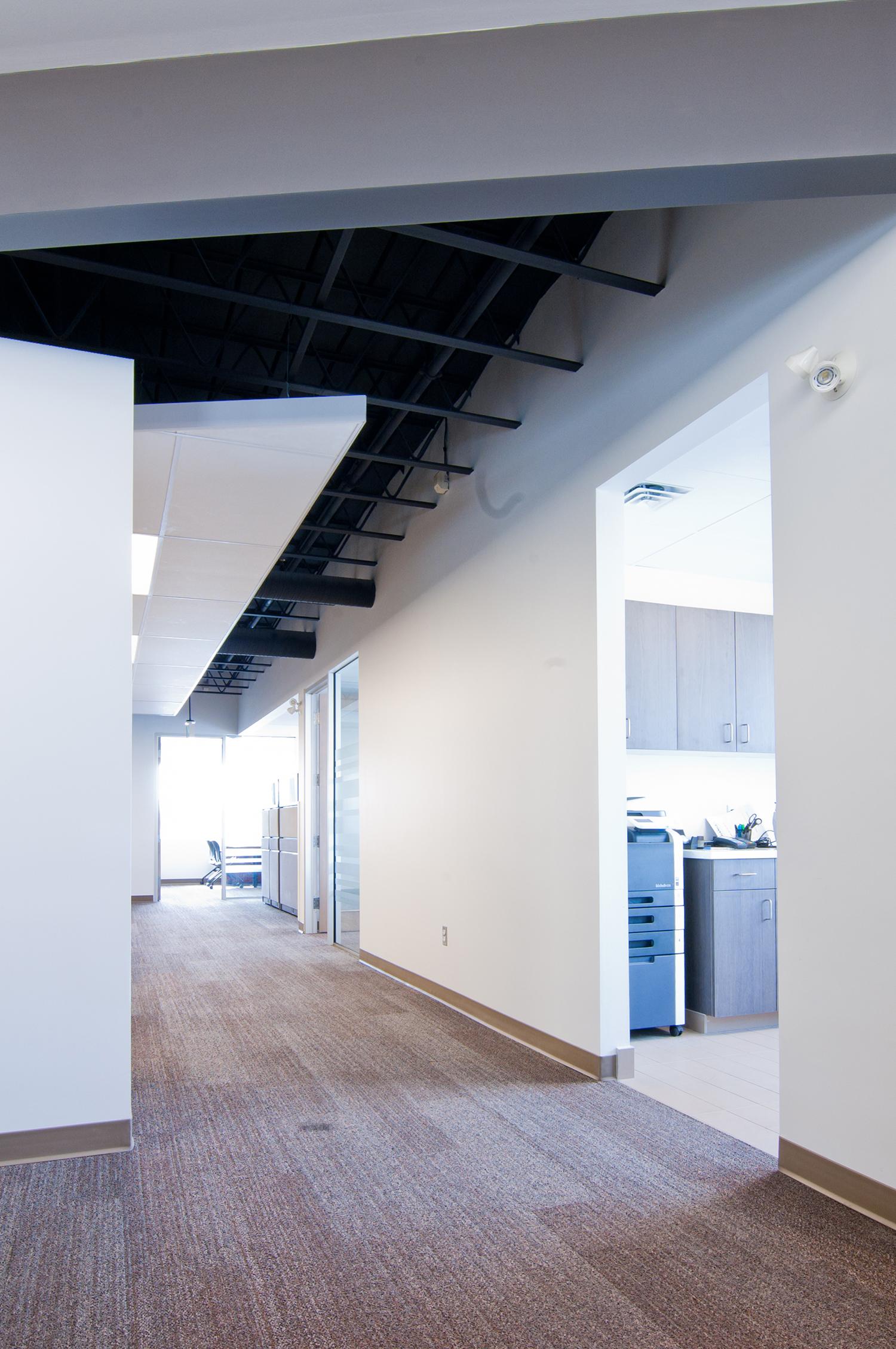 Exchange Group Offices, interior photo of hallway / Photo: Derrick Finch