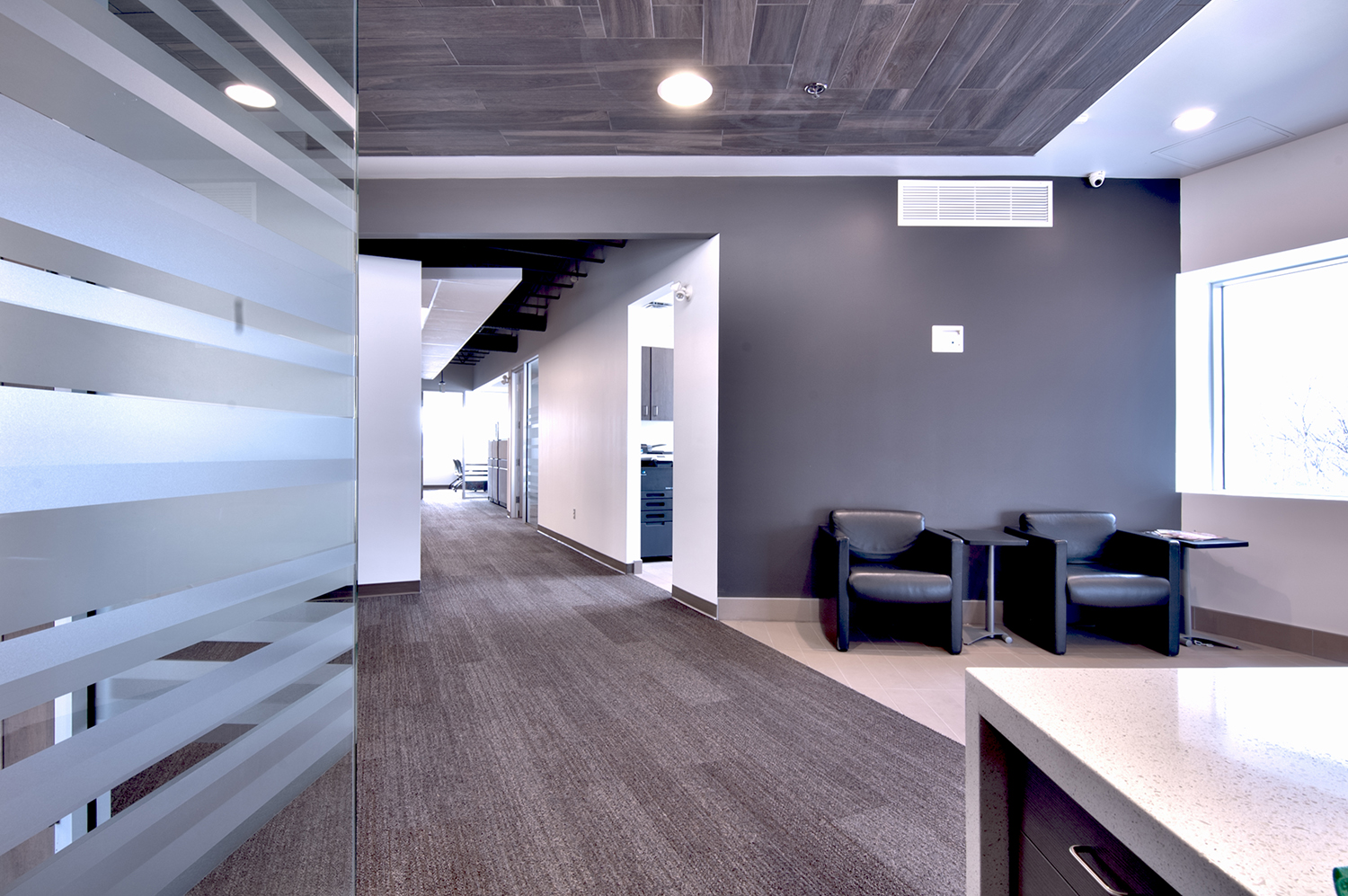 Exchange Group Offices, interior photo of sitting area / Photo: Derrick Finch