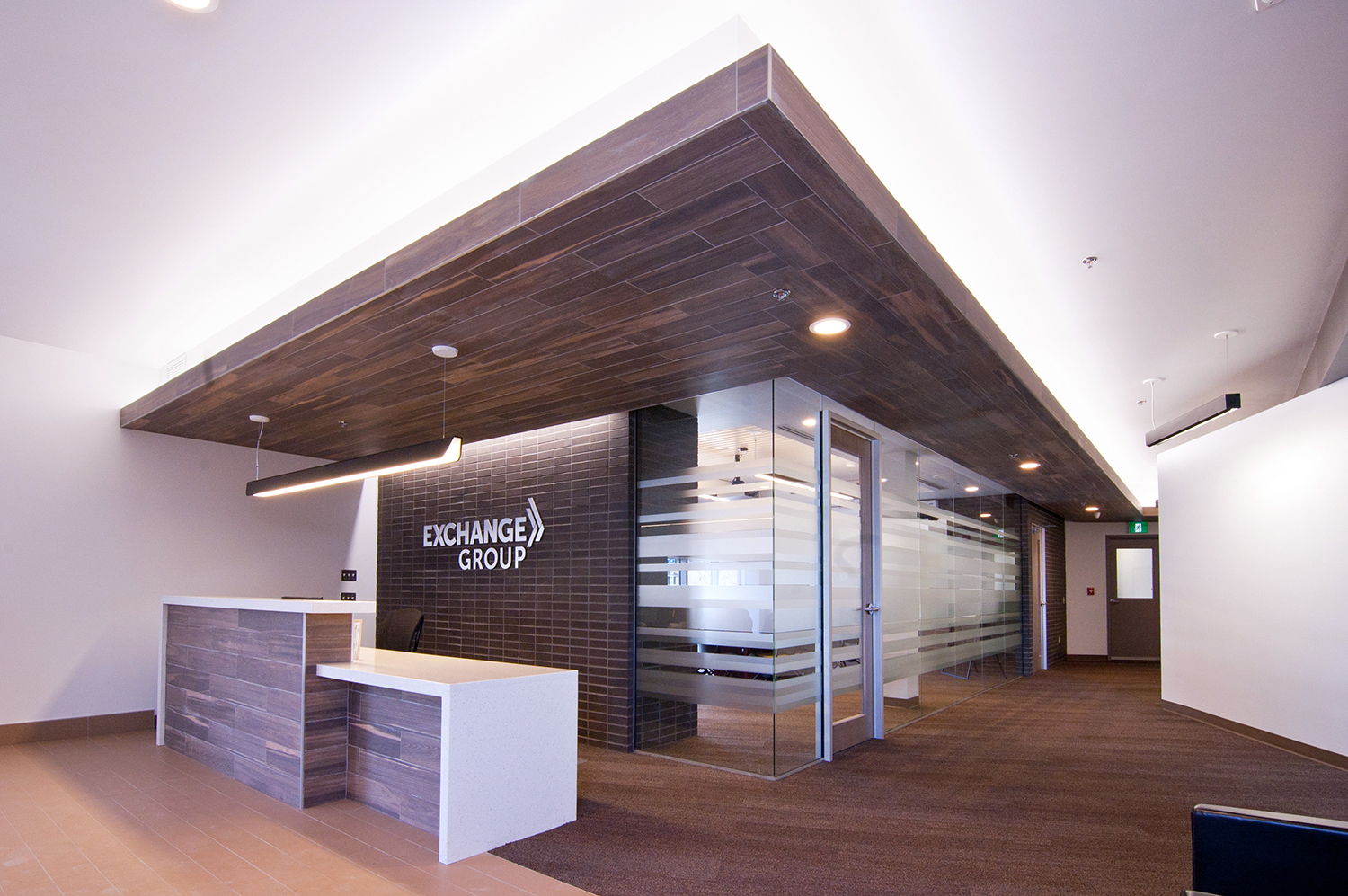 Exchange Group Offices, interior photo of reception / Photo: Derrick Finch