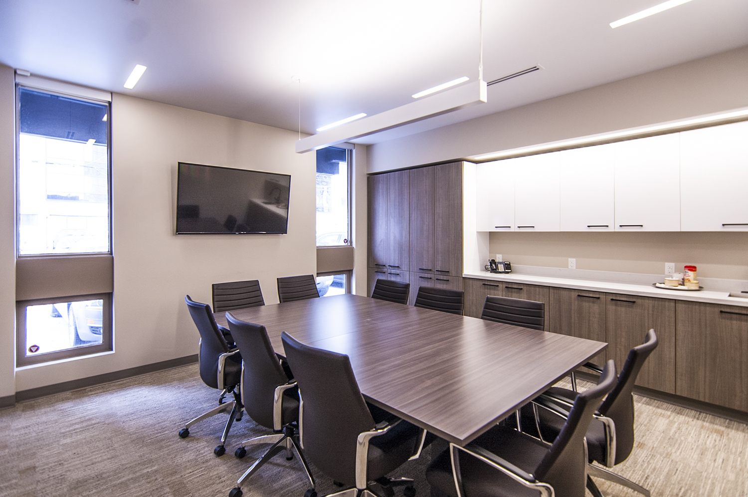 Fast Trippier Law Offices, interior photo of meeting room / Photo: Derrick Finch
