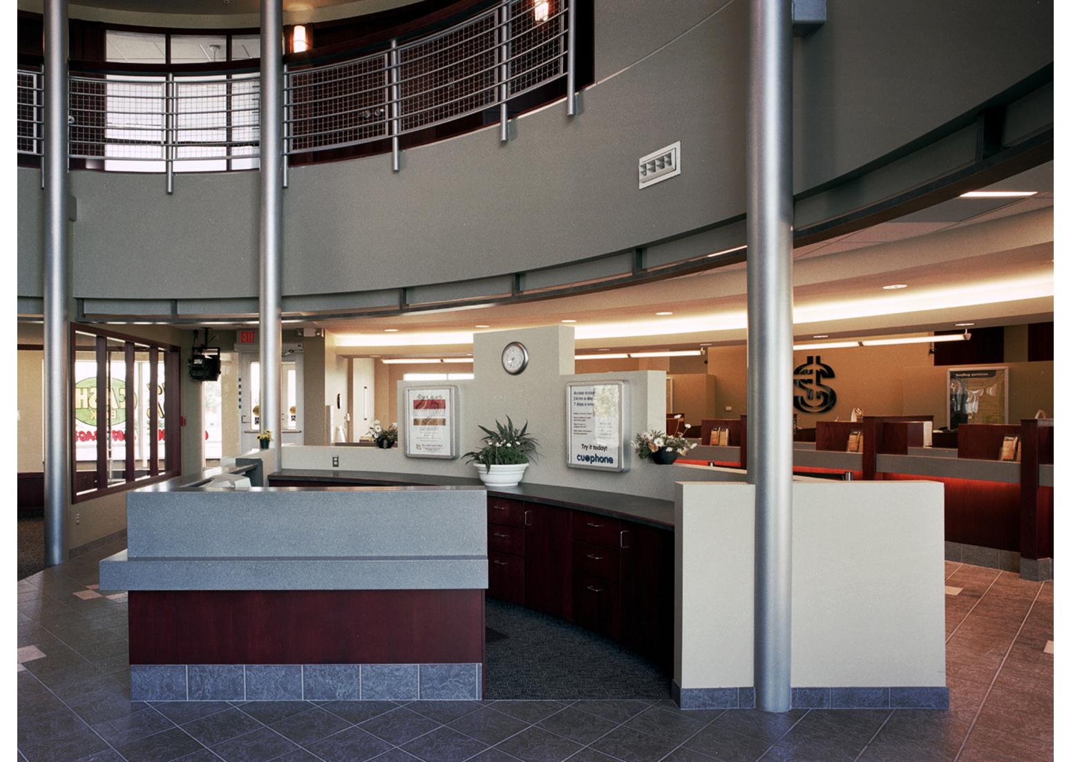 Holy Spirit (Entegra) Credit Union, interior photo main area