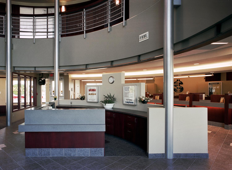 Holy Spirit (Entegra) Credit Union, interior photo of main reception
