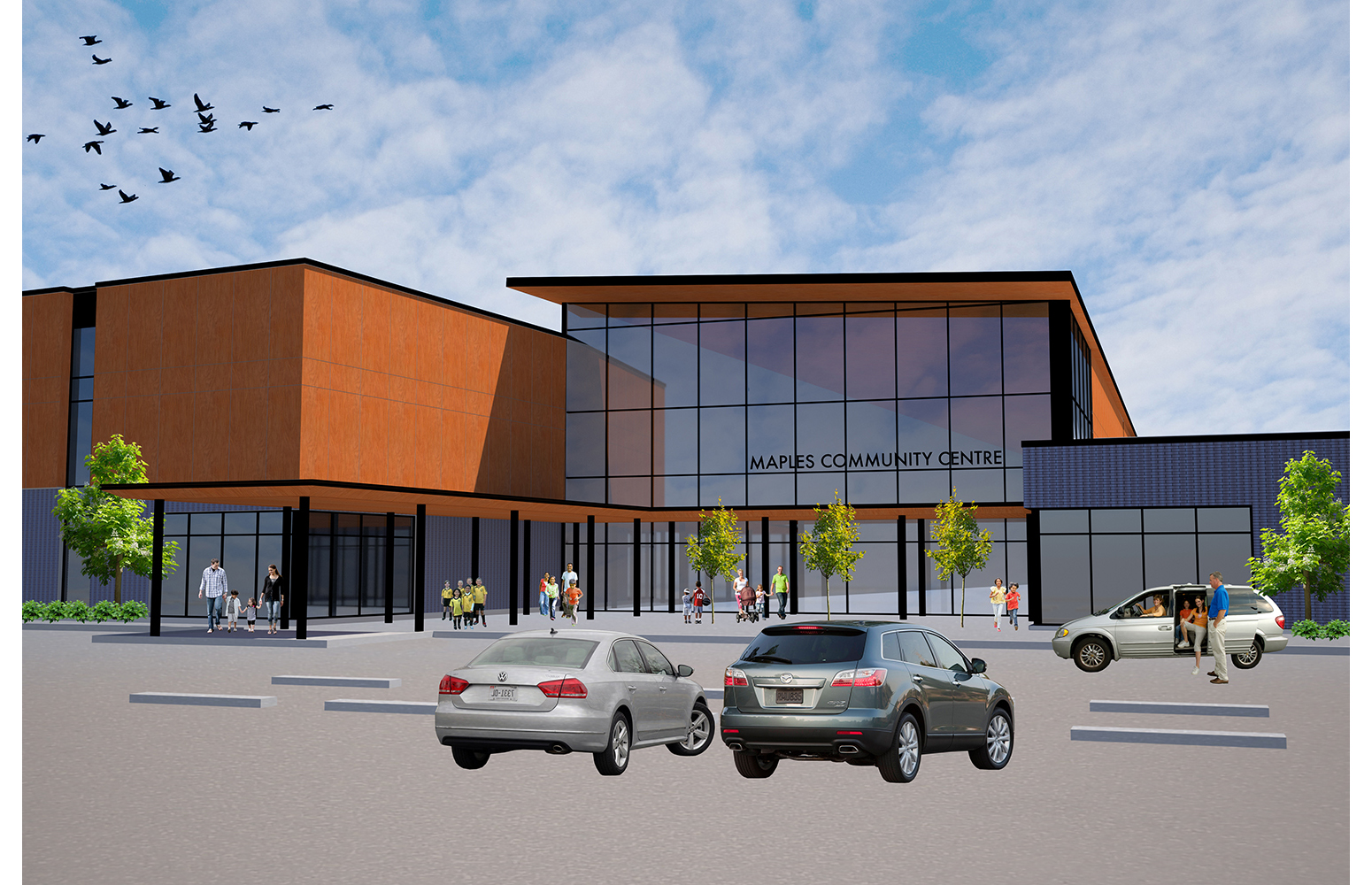 Maples Community Centre, exterior rendering