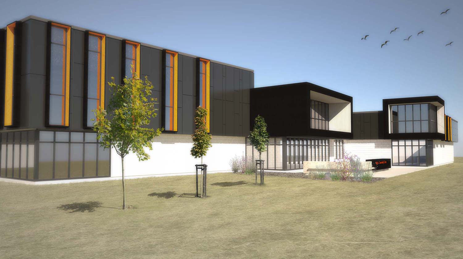 Maples Community Centre, exterior rendering