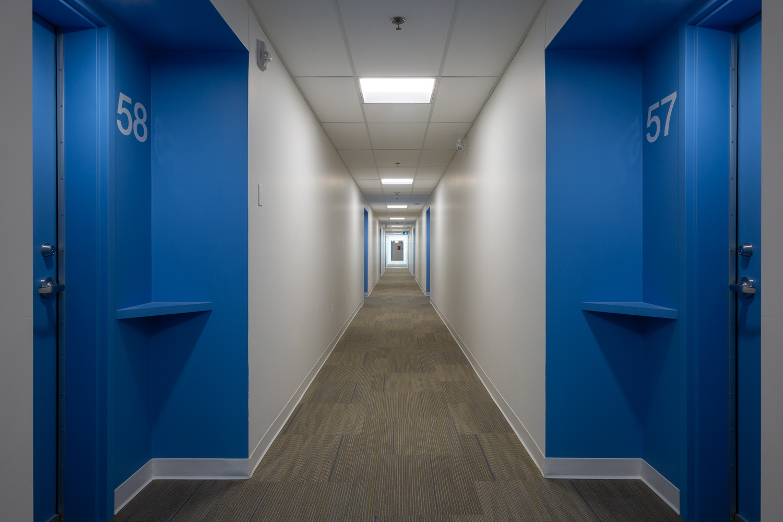 Old Grace Housing Co-op, interior photo of hallway / Photo:  Lindsay Reid