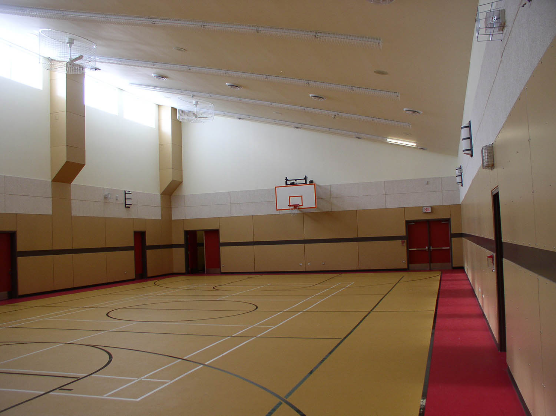Red River Community Centre, interior photo of gymnasium