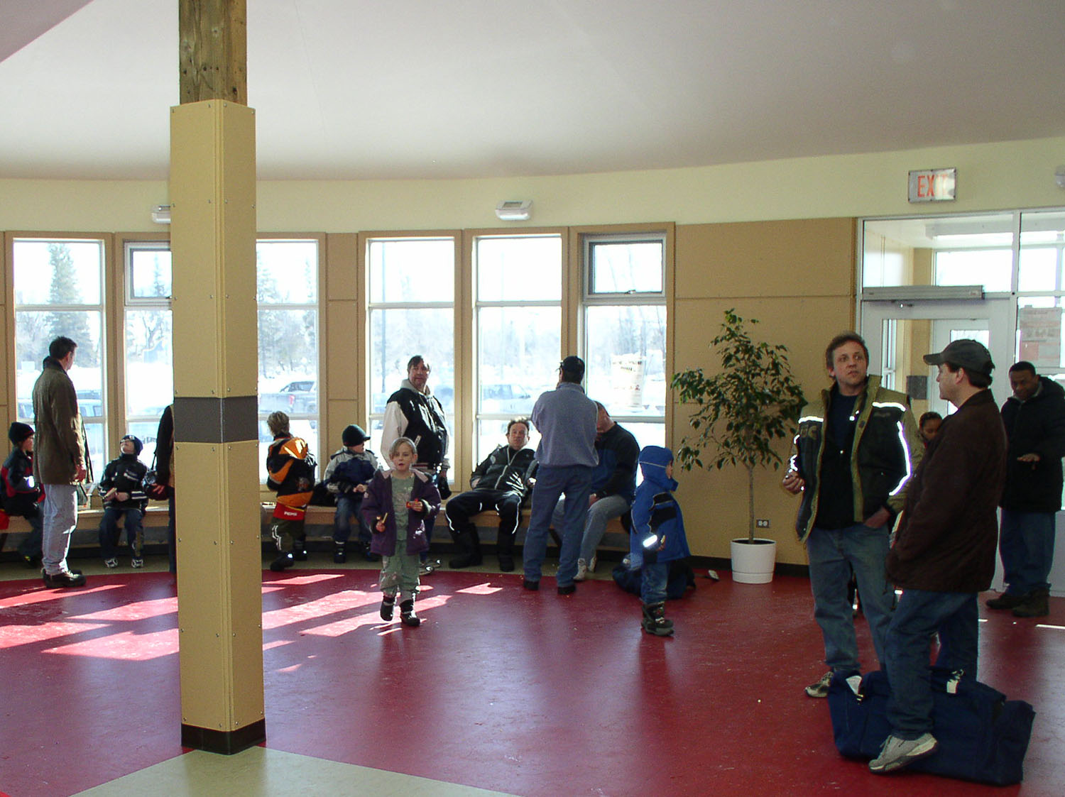 Red River Community Centre, interior photo of entrance