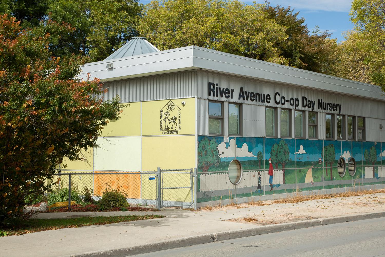 River Avenue Daycare, exterior photo of building / Photo:  Lindsay Reid