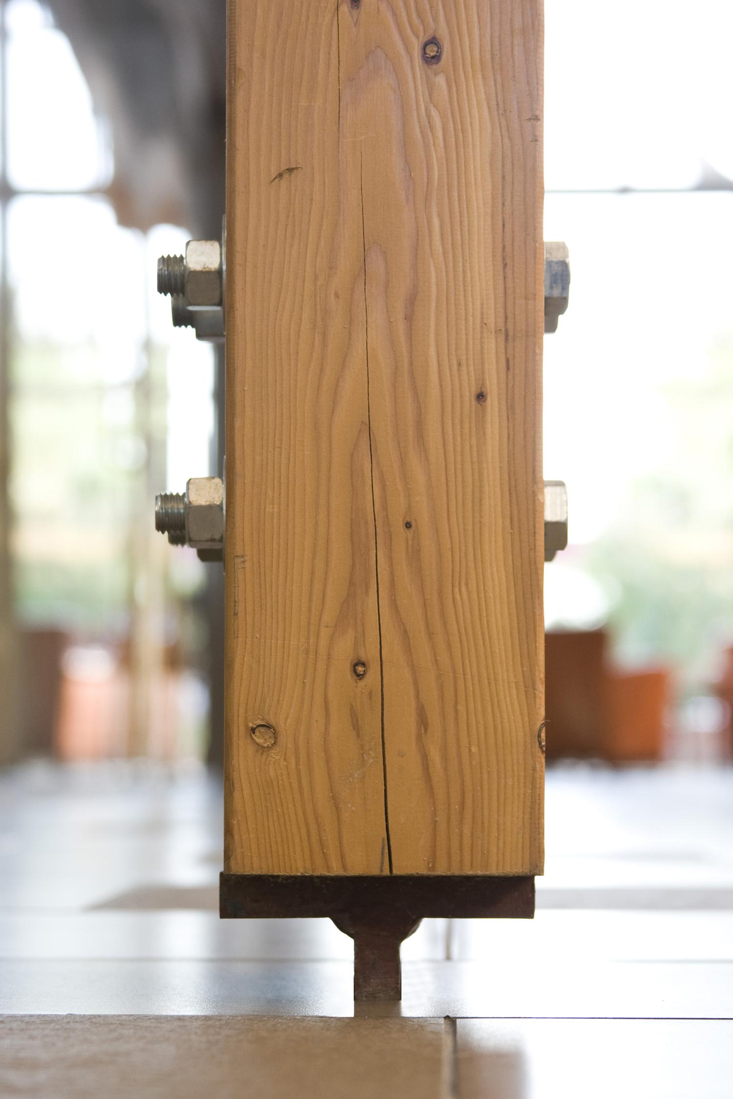 Sunova Credit Union, interior photo of glulam beam / Photo: Tracy A Wieler