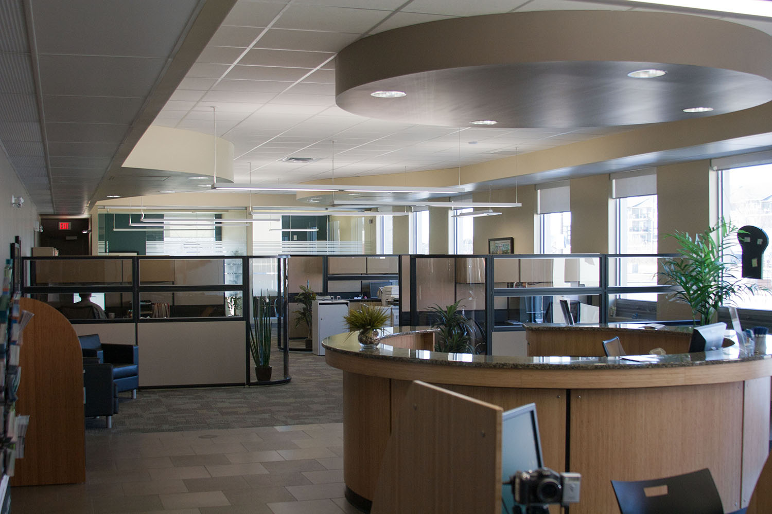 Sunova Credit Union, interior photo of Insurance One offices / Photo: Tracy A Wieler
