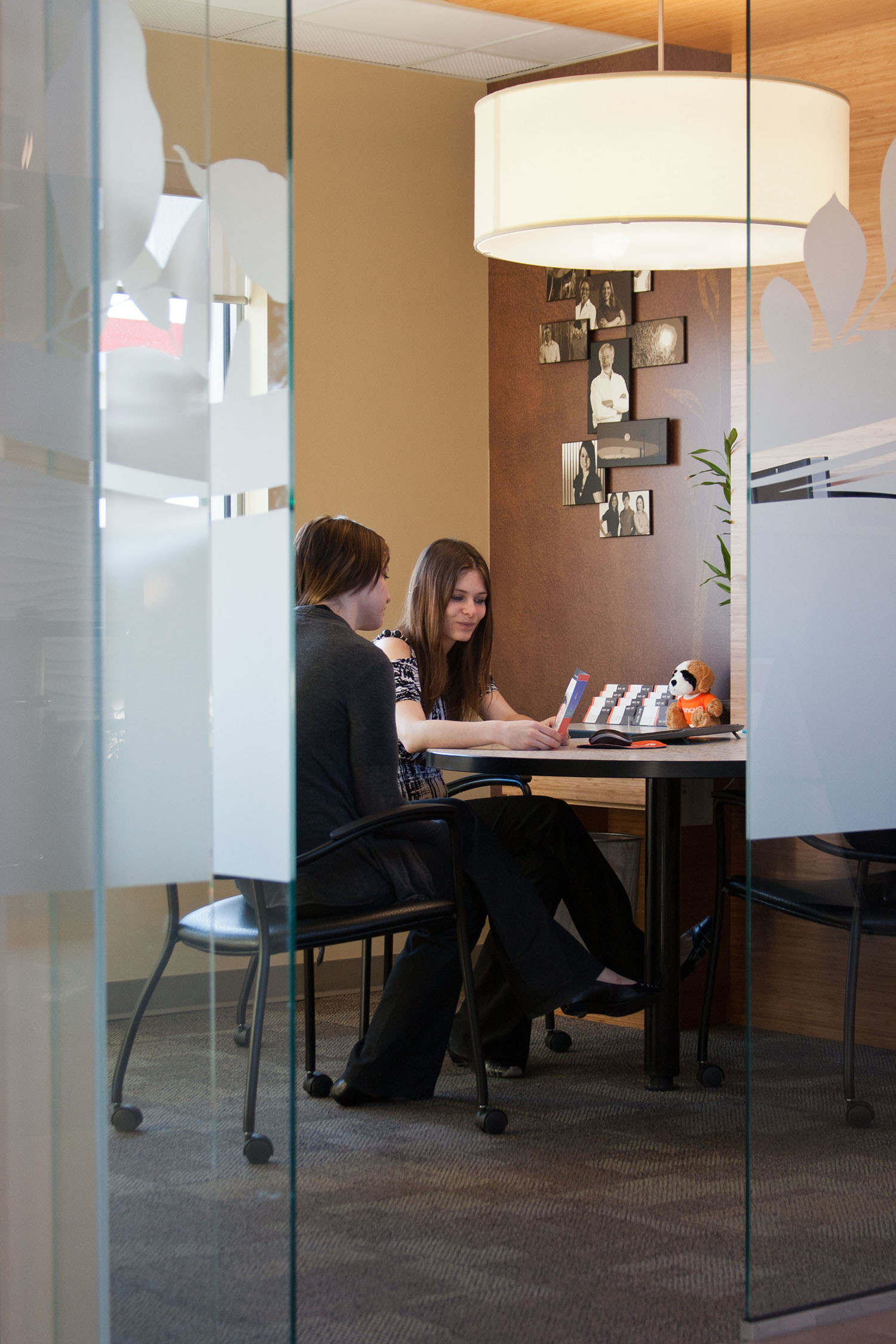 Sunova Credit Union, interior photo of office / Photo: Tracy A Wieler