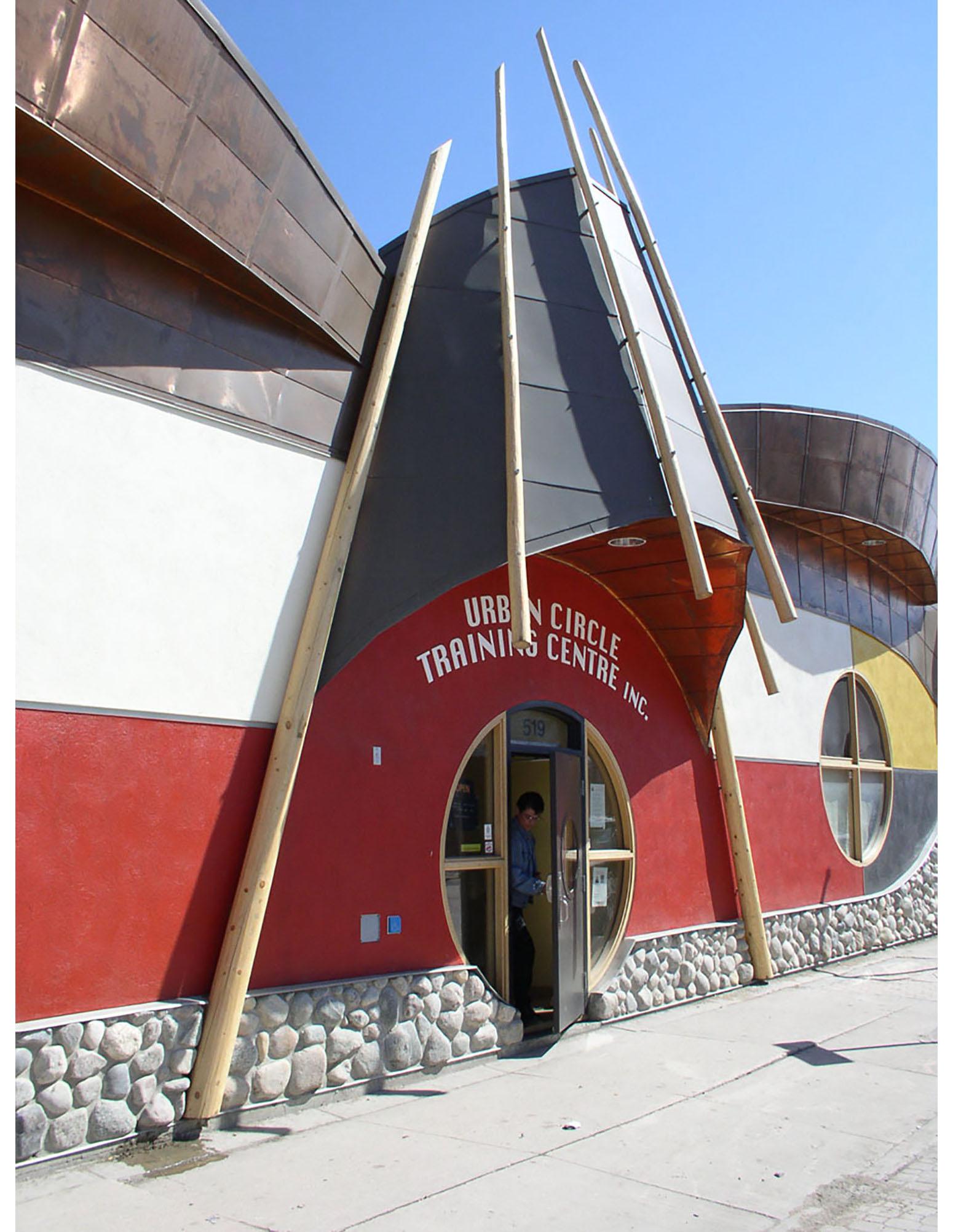 Urban Circle Training Centre, exterior photo of entrance