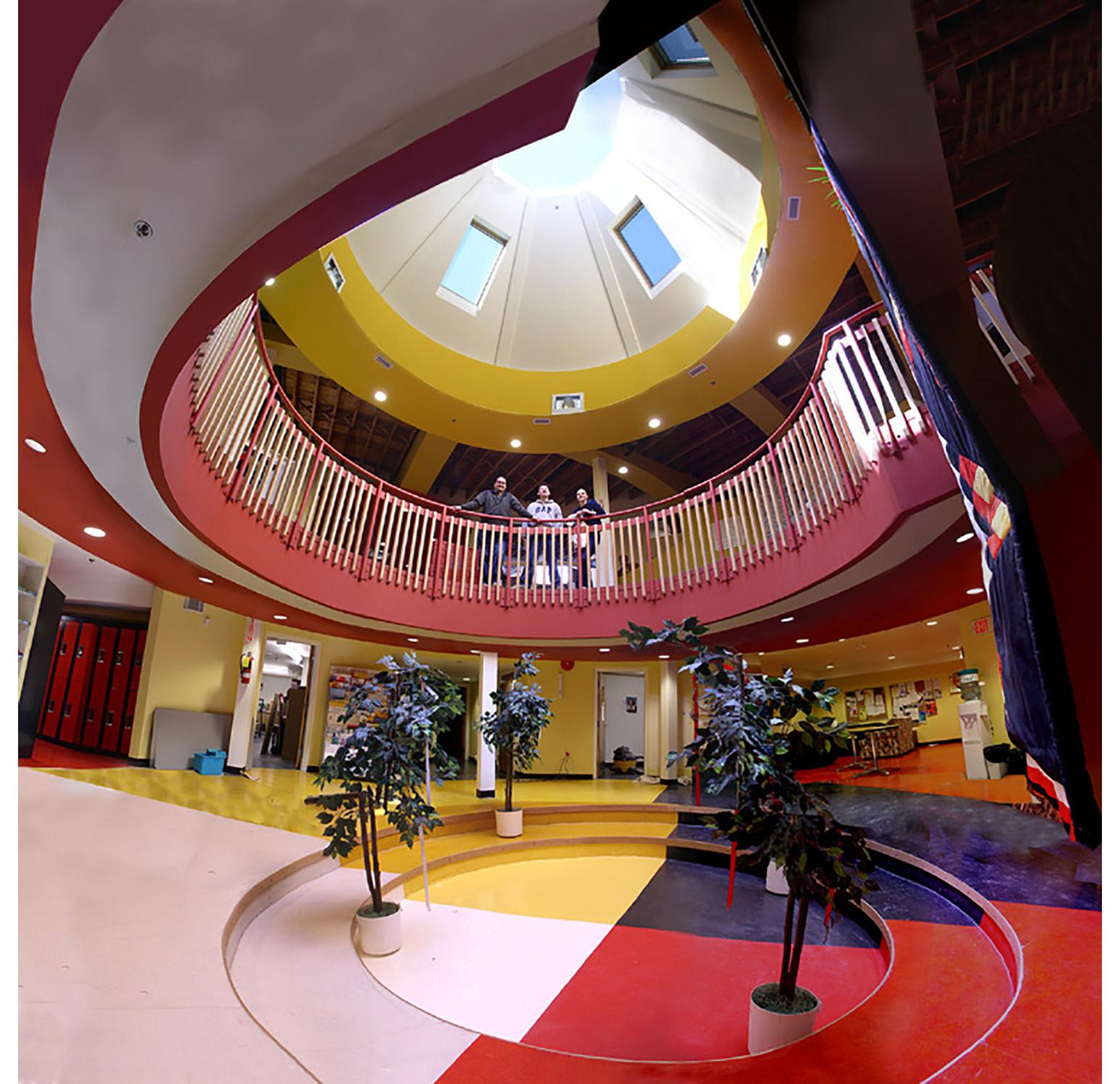 Urban Circle Training Centre, interior photo of centre space