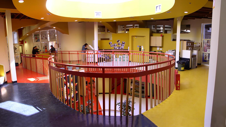 Urban Circle Training Centre, interior photo of mezzanine