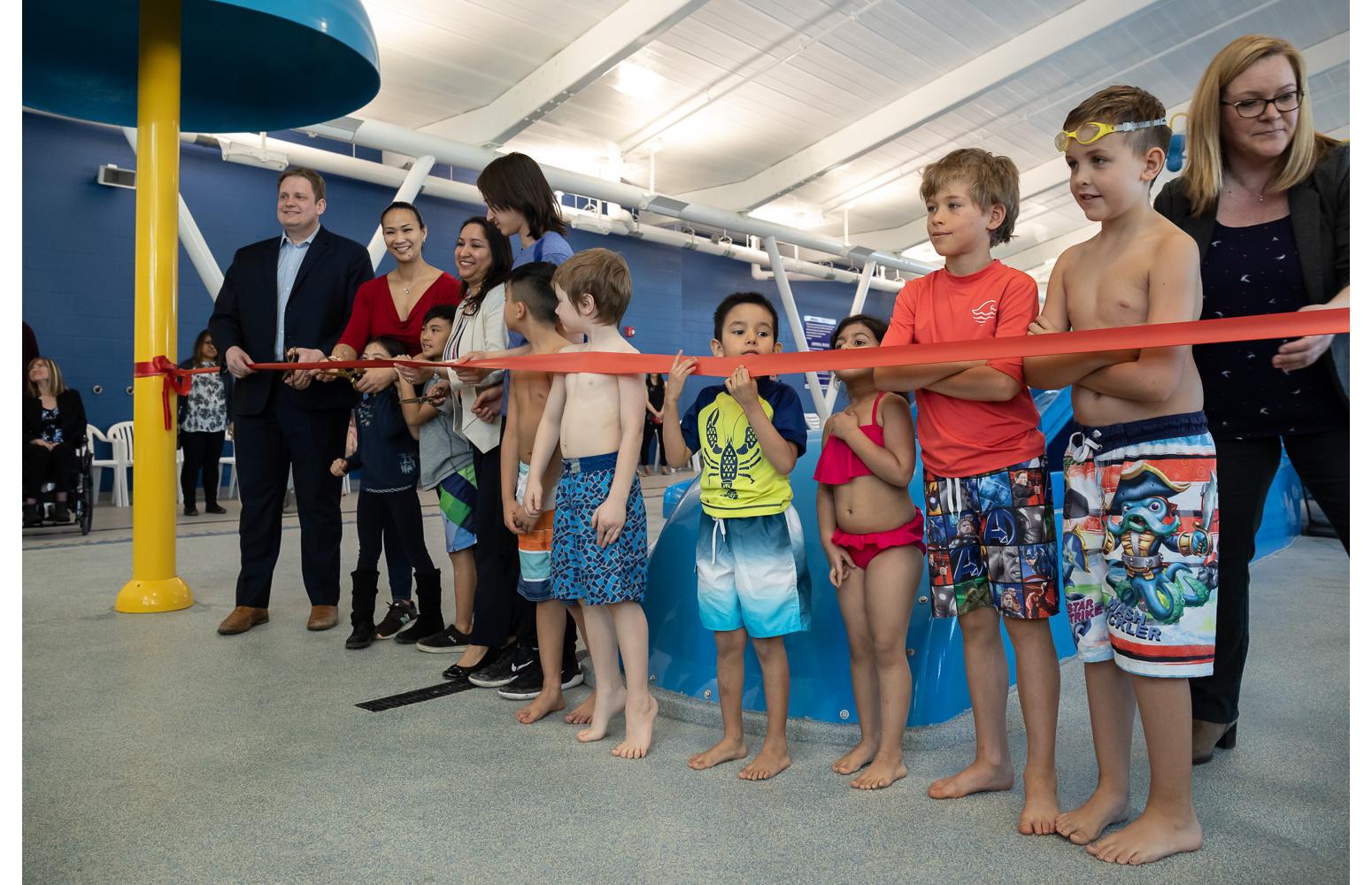 Seven Oaks Pool Grand Opening Ribbon Cutting!