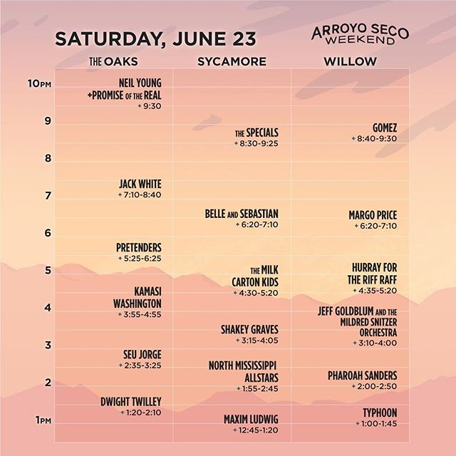 Set times for @arroyosecowknd have been announced! We will be performing on the Willow Stage at 8:40 pm on Saturday, June 23.  Tickets and more info available at gomeztheband.com/tour. Link in bio.