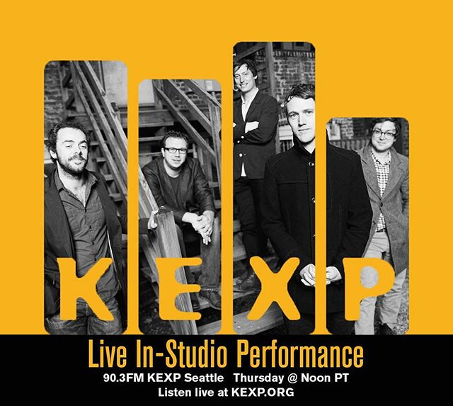 Tomorrow at noon PT we will be performing live in-studio at @kexp! Tune in at 90.3 FM in Seattle or worldwide at KEXP.org