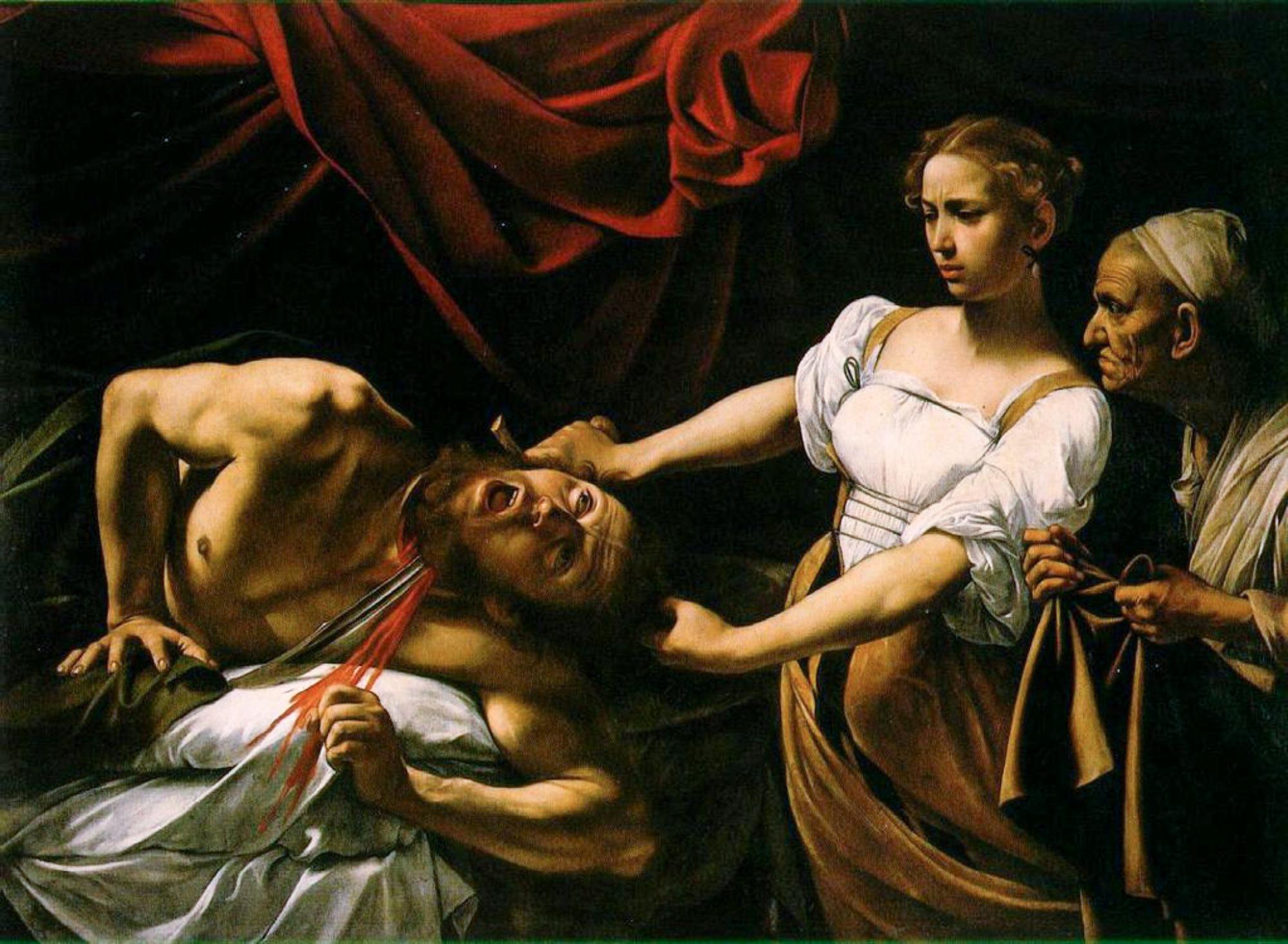 Caravaggio - Judith decapitando Holofernes, por volta de 1600