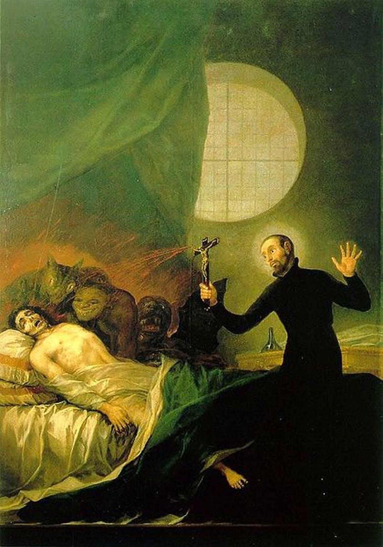 Francis Borgia Helping a Dying Impenitent - Francisco de Goya (1746–1828), cerca de 1788.