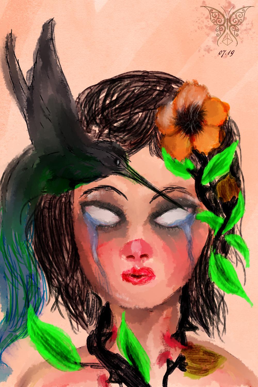 Lihria, por Oanna Selten - Aquarela digital (2019) /  Lihria by Oanna Selten - digital watercolor (2019)