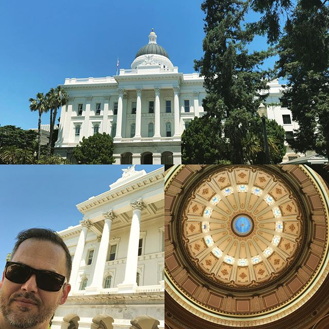 Spent today in #Sacramento attending the SB 1335 Workshop and meeting with various members of the CA Assembly and Senate about how #earthcoating can be used in support of plastic reduction, landfill diversion and increased #recycling rates.