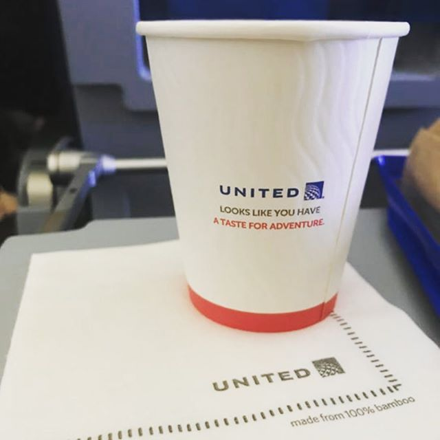 "Congratulations to #unitedairlines on your ""Flight for the Planet"". Between the biofuel, beeswax wraps and #recyclable paper cups made with #earthcoating, you've really set a great example for others to follow. #sustainablepackaging"